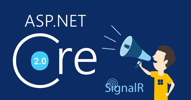 Newly written SignalR with  Net Core 2 0 and TypeScript