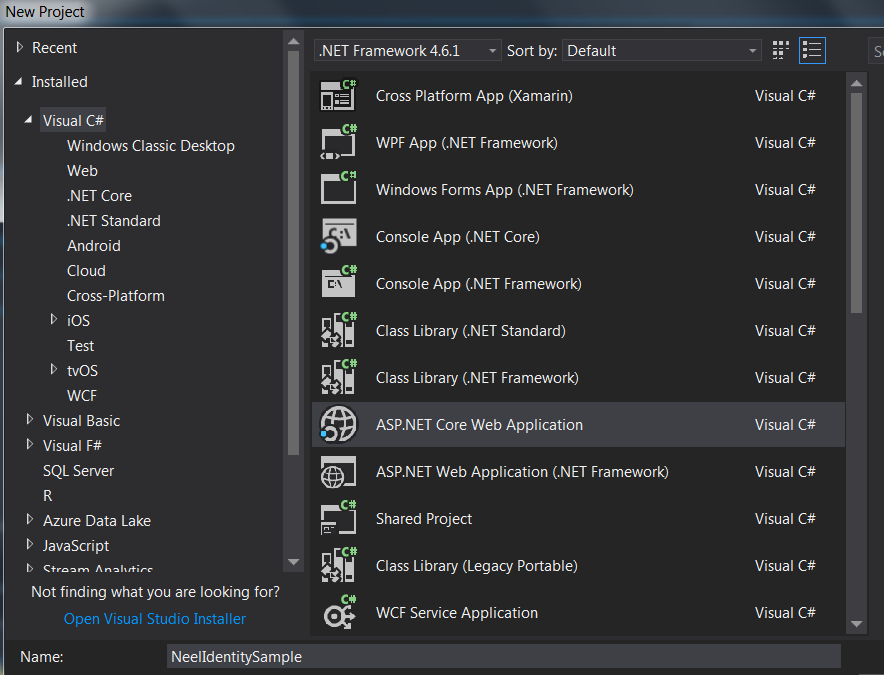 Authentication in  Net Core 2 0 :  Net Core 2 0 Identity