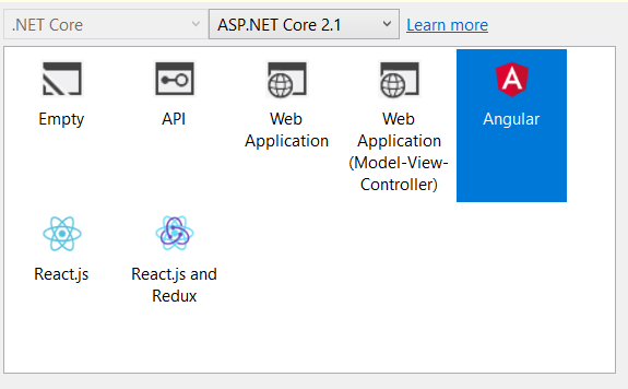 Create an application with Angular 6 and  Net Core: Step by