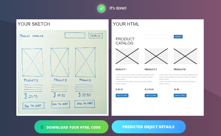 Convert Your Sketch To Html Code With Sketch2code Microsoft Ai